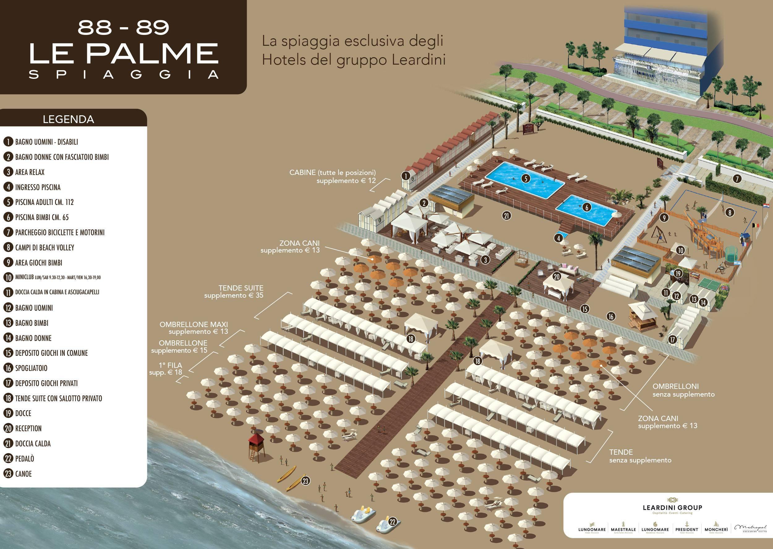 Spiaggia Private Le Palme Beach 88-89 Riccione